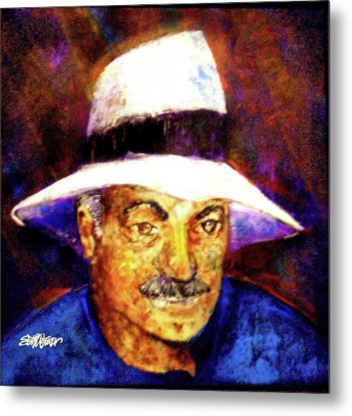 Man In The Panama Hat Metal Print