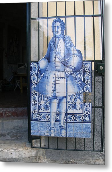 Man Of Blue Tiles Metal Print by Carl Purcell