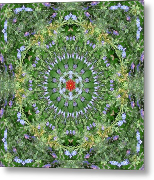 Mandala July 16 Metal Print by Allen Rybo