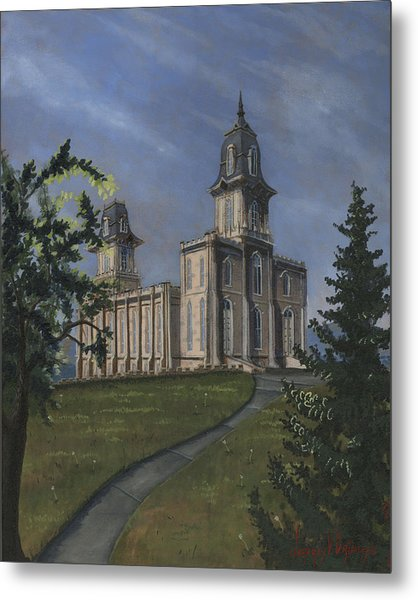 Manti Temple East Doors Metal Print
