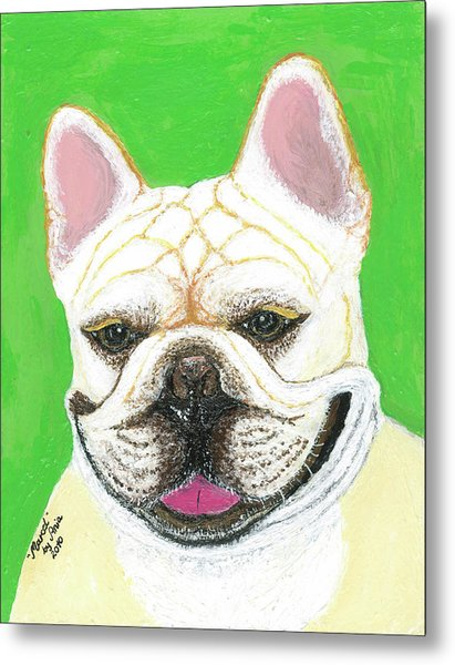 Marcel French Bulldog Metal Print