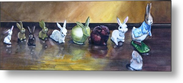 March Hares Metal Print