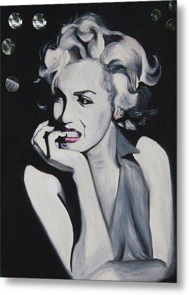 Marilyn Monroe Portrait Metal Print by Mikayla Ziegler