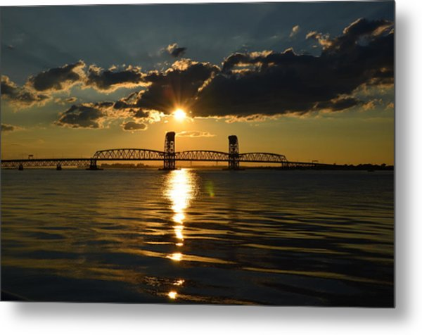 Marine Park Gil Hodges Bridge Metal Print
