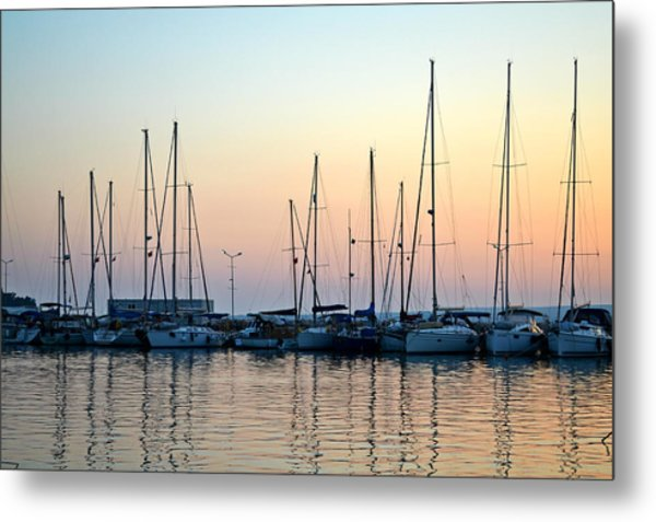 Marine Reflections Metal Print