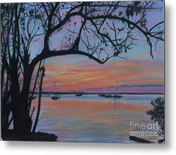Marsh Harbour At Sunset Metal Print