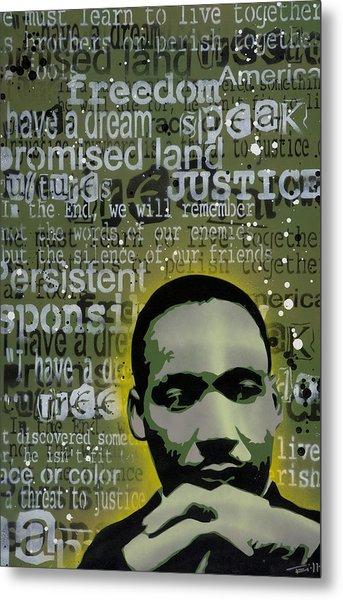 Martin Luther King Metal Print by Tai Taeoalii