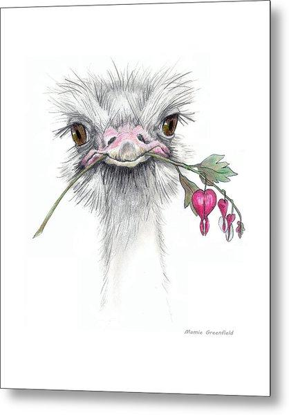 Matilda The Ostrich Metal Print