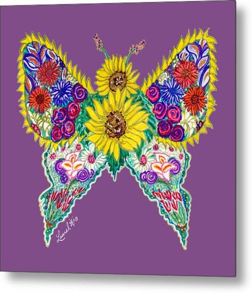 May Butterfly Metal Print