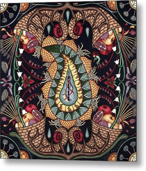 May Mandala Or Fertility Metal Print by Jess-o