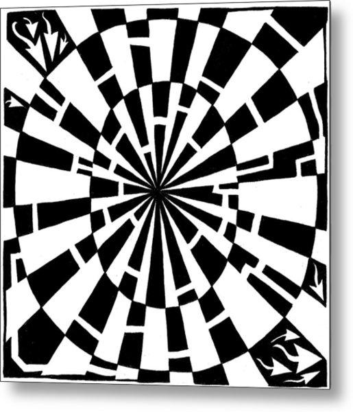 Maze-bama Metal Print by Yonatan Frimer Maze Artist