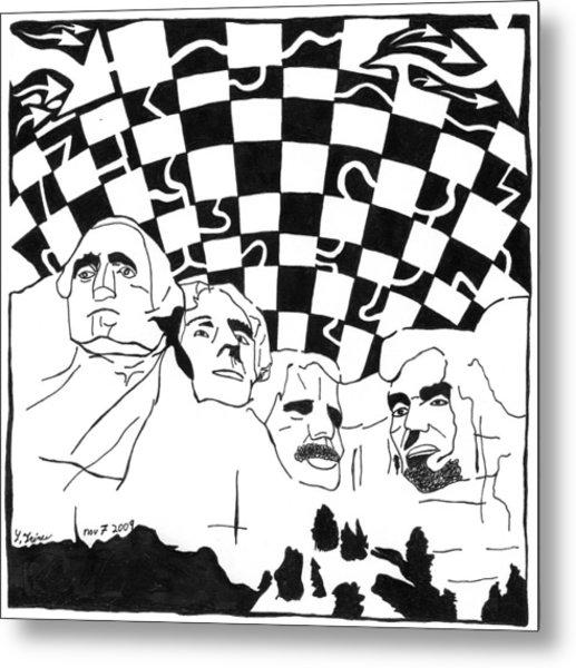 Maze Rushmore Metal Print by Yonatan Frimer Maze Artist