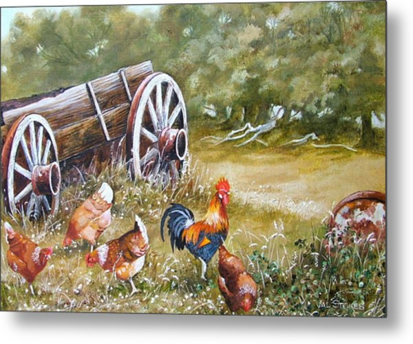 Meals And Wheels Metal Print by Val Stokes
