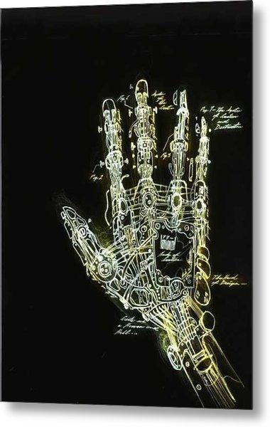Mechanical Hand Metal Print by Ralph Nixon Jr