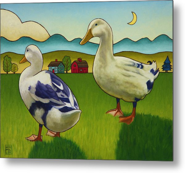 Melissas Ducks Metal Print