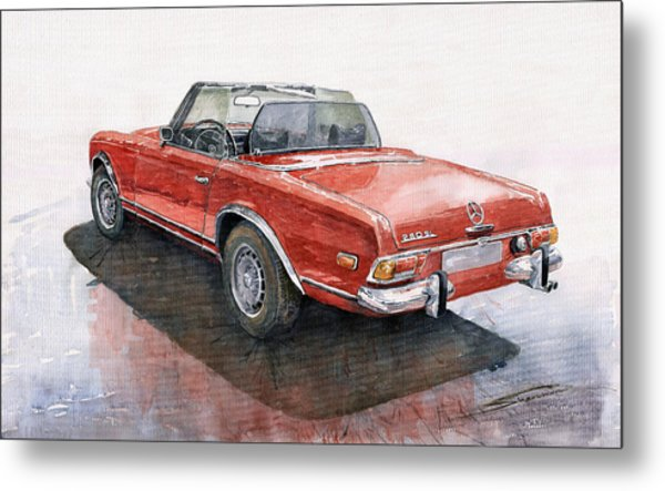 Mercedes Benz W113 Sl280 Metal Print