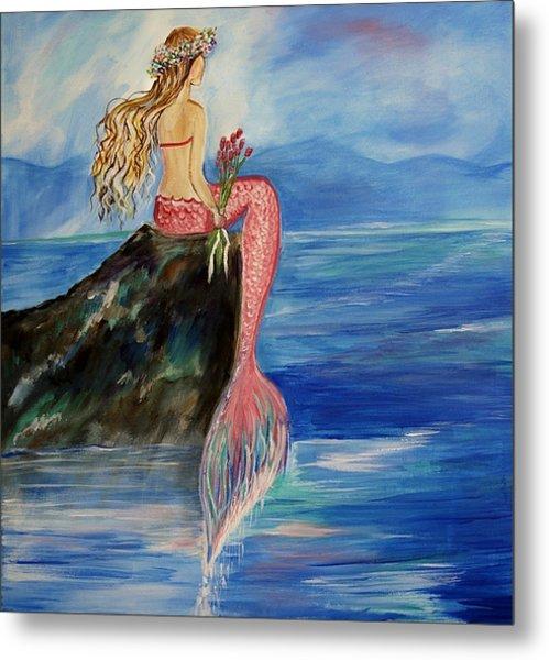 Mermaid Wishes Metal Print