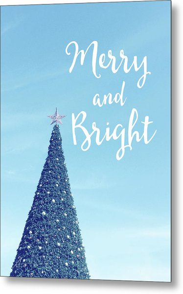 Merry And Bright - Art By Linda Woods Metal Print