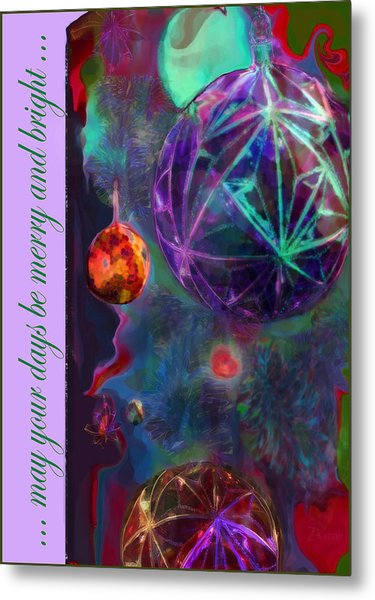 Merry And Bright Holidays Metal Print