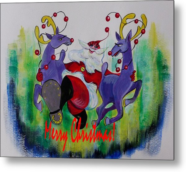 Merry Christmas Metal Print by Anna  Duyunova