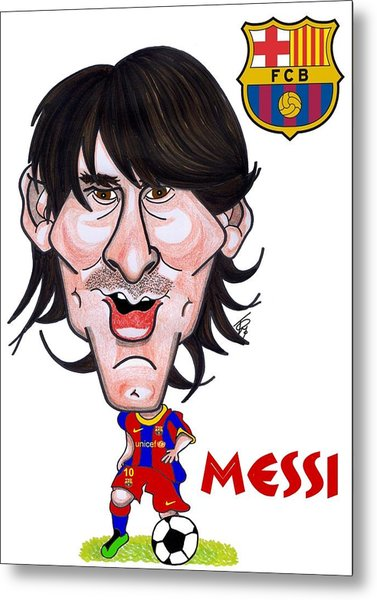 Messi Metal Print by Tom Glover