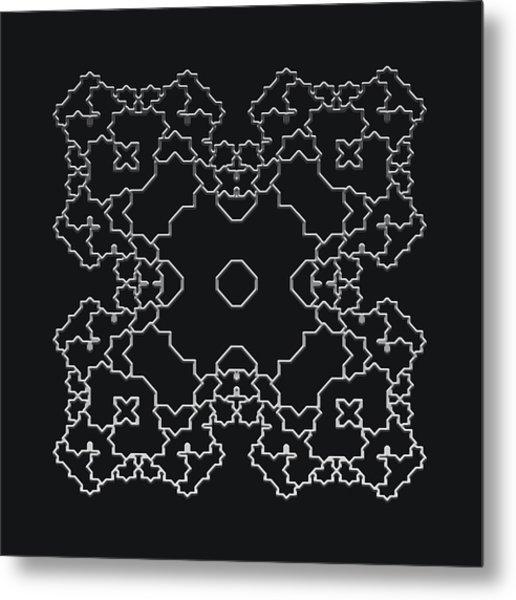 Metallic Lace Aiv Metal Print