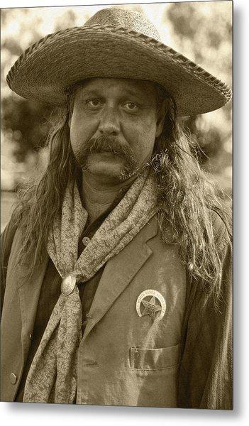 Mexican Cowboy Metal Print
