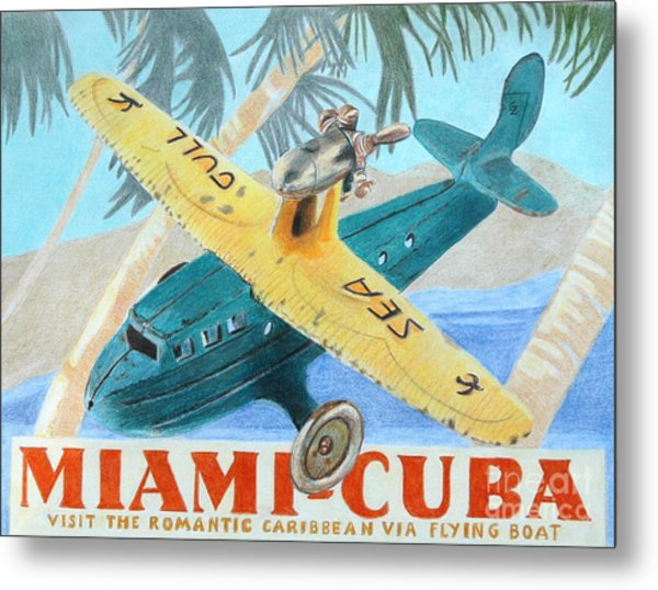 Miami-cuba Metal Print