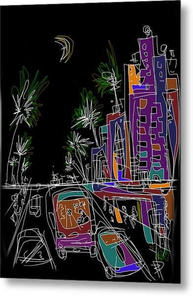 Miami Metal Print by Russell Pierce