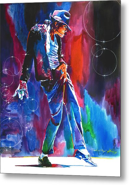 Michael Jackson Action Metal Print
