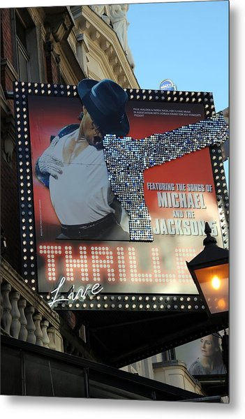 Michael Jackson Musical Metal Print by Sophie Vigneault