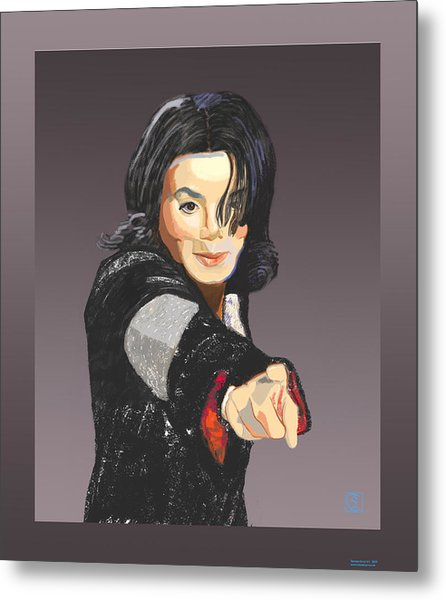 Michael Jackson-tell It Like It Is Metal Print