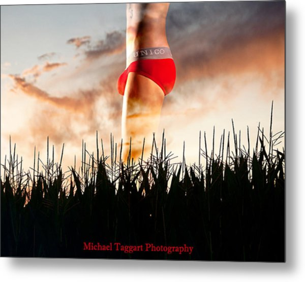 Michael Phelps Sunset Metal Print