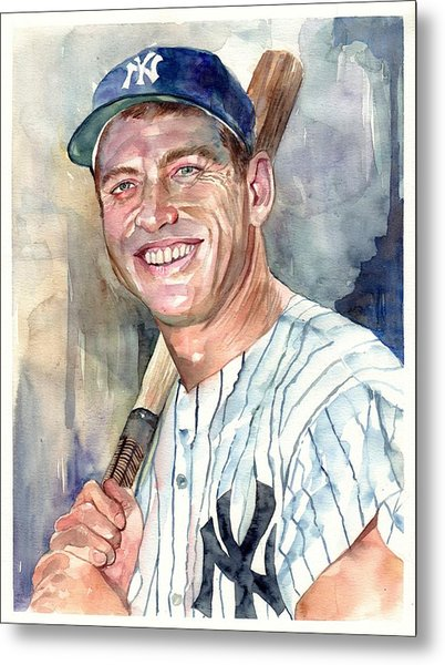 Mickey Mantle Portrait Metal Print
