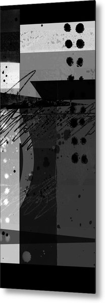Midnight In The City 2 Triptych Metal Print
