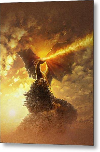 Mighty Dragon Metal Print