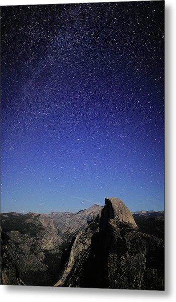 Milky Way Over Half Dome Metal Print