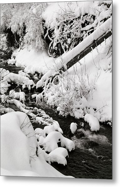 Mill Creek Canyon In Winter Metal Print by Dennis Hammer