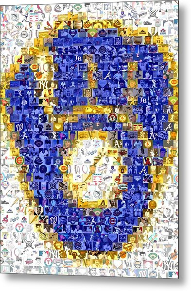 Milwaukee Brewers Mosaic Metal Print