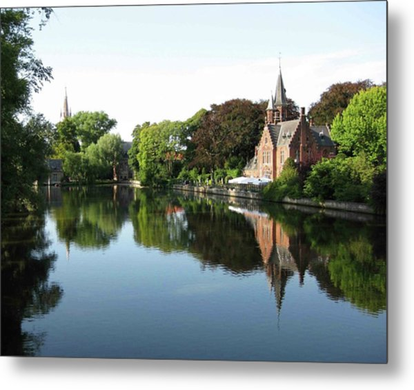 Minnetwaterpark Bruges Metal Print by David L Griffin