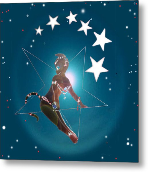 Miss Fifiswinging On A Star Metal Print by Silvia  Duran