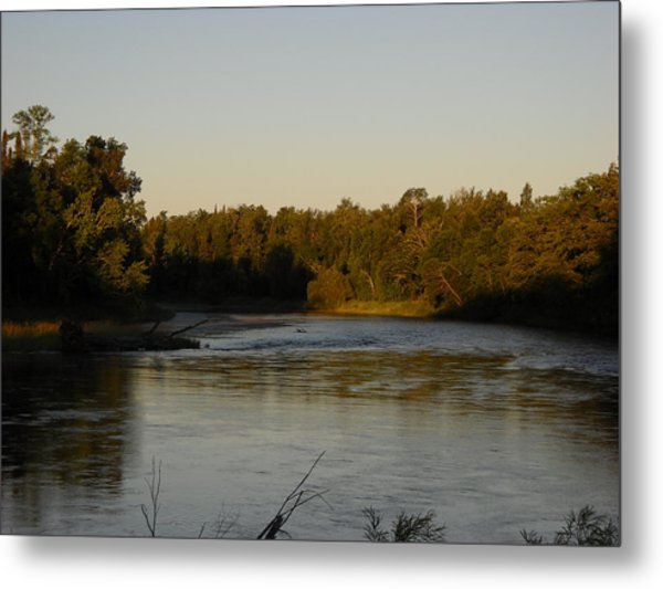 Mississippi River Morning Glow Metal Print
