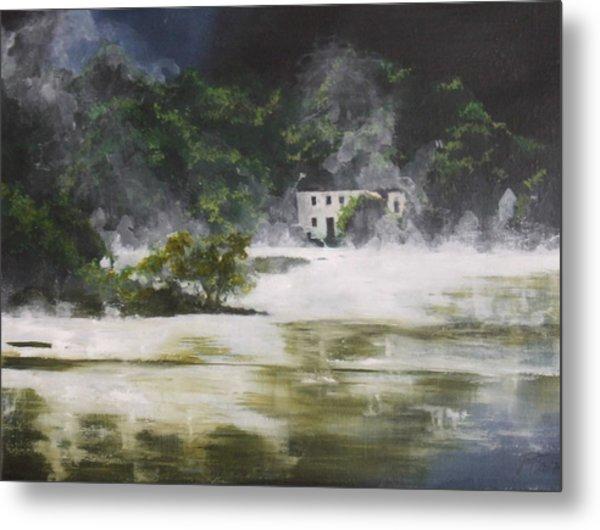 Mist On Derwent Water Metal Print by Jane  Simpson