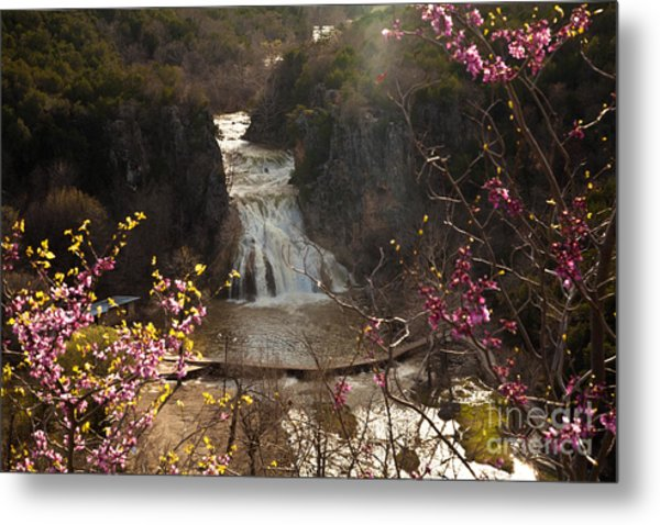 Misty Day In Turner Falls Metal Print