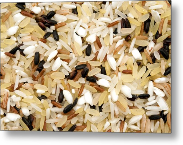 Mixed Rice Metal Print