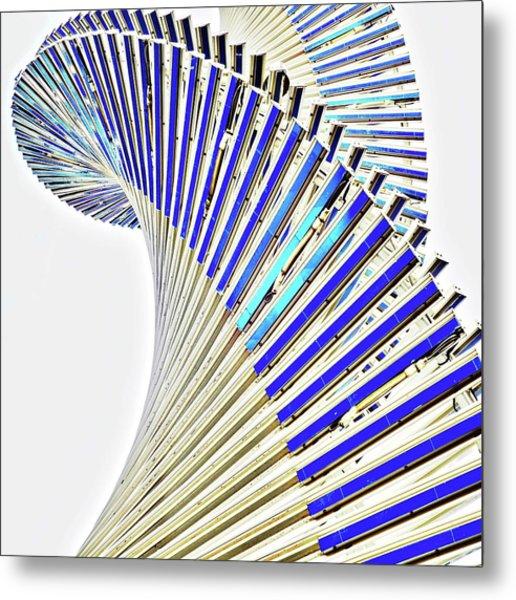 Modern Twist Sculpture Metal Print