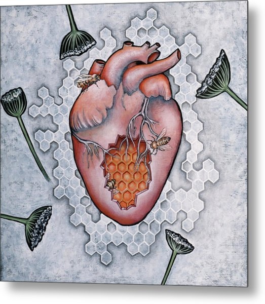 Mon Coeur- Where The Honeybees Live Metal Print