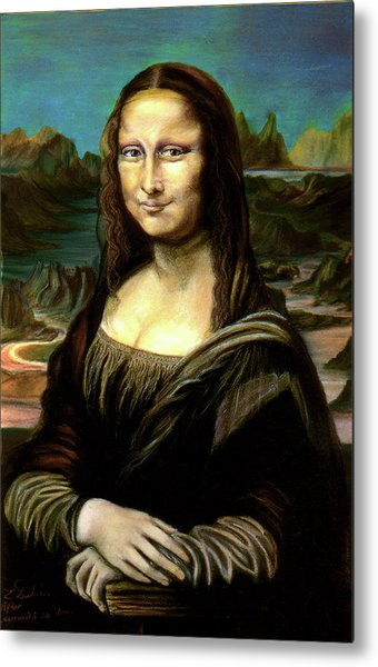 Mona Lisa My Version Metal Print