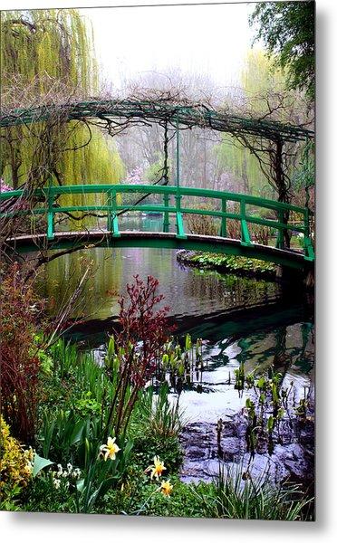 Monet's Magical Bridge Metal Print