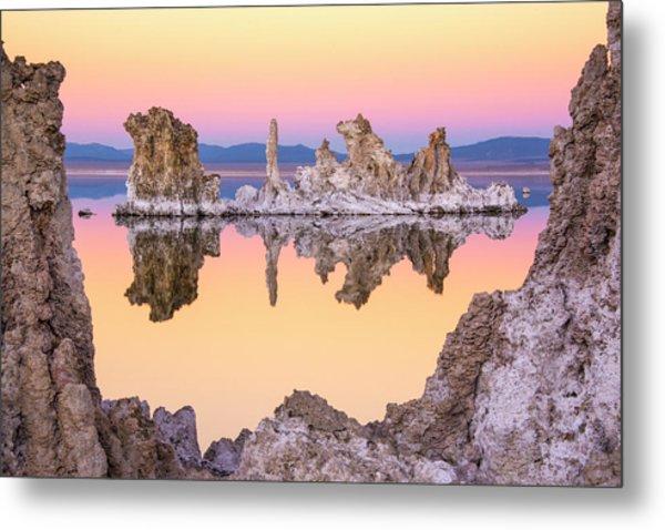 Mono Lake Through A Tufa Frame Metal Print